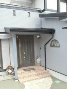 熊本県合志市I様邸 玄関屋根造作、外廻りリフォーム工事