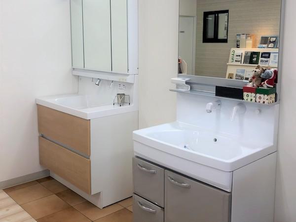 最新型の洗面化粧台を取り揃えています。機能や価格帯などぜひ比較してみてください。