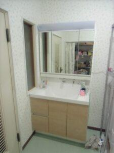 熊本市北区A様邸 洗面脱衣室改修工事